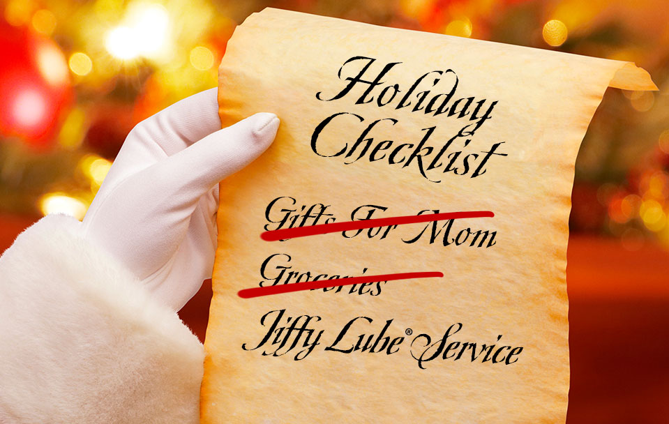 Holiday Checklist Jiffy Lube Service